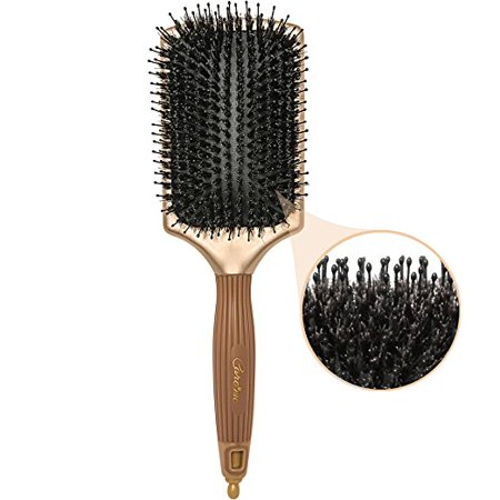 Pure Natural Boar Bristle Paddle Hair Brush – Condition, Detangle, Smooth All Hair Types – Promotes Healthy, Smooth, Shiny (Best Type Of Shoes For Crossfit)