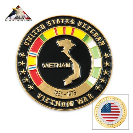 A Token Of Appreciation (Vietnam Veteran Proudly Served Collectible Coin, An elegant token of your appreciation for loved ones who fought in Vietnam By Military Pride From)