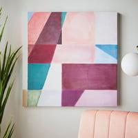 MoDRN Glam Pink Color Block Wall Art