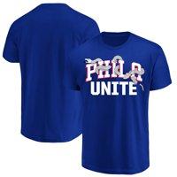 96965d3a92b Product Image Philadelphia 76ers Majestic 2018 NBA Playoffs Phila Unite  Wordmark T-Shirt - Royal
