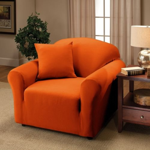 Kashi Home Jersey Box Cushion Armchair Slipcover