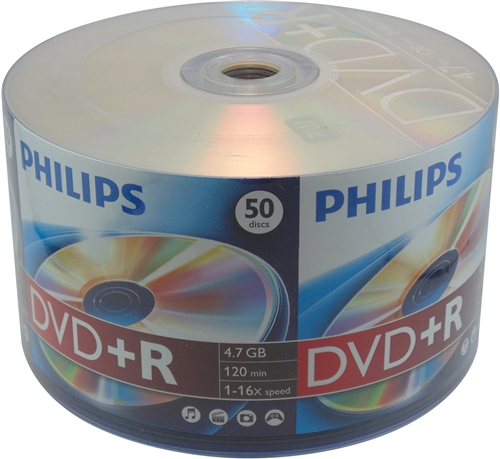 600 Philips 16X DVD+R 4.7GB (Philips Logo on Top)