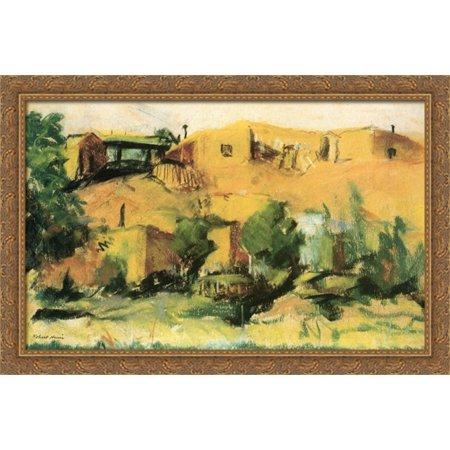 - Indian Village 40x26 Large Gold Ornate Wood Framed Canvas Art by Robert Henri