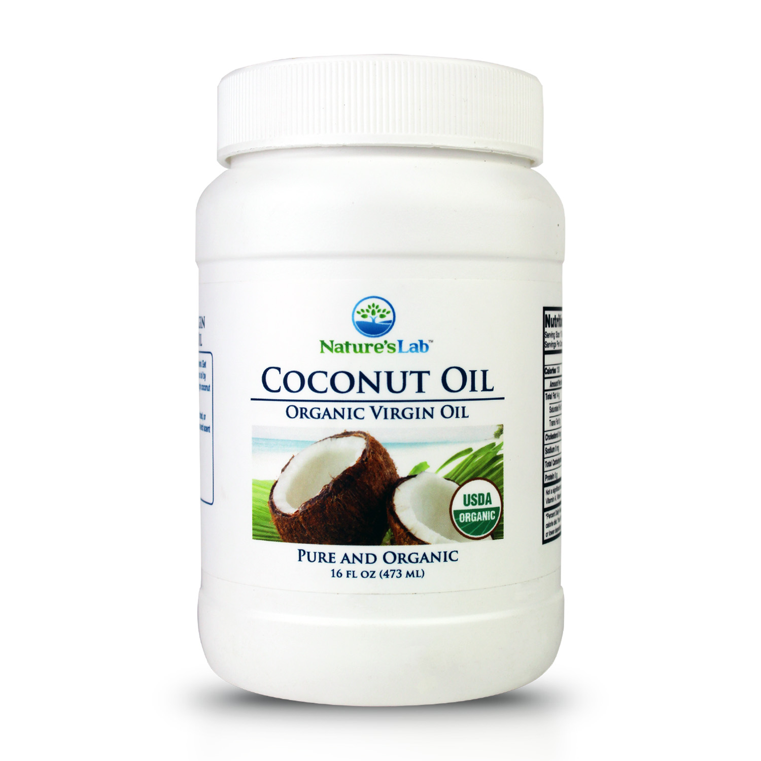 DrVita Labs Natures Lab Coconut Oil, 16 oz