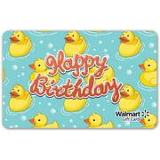Duckie Birthday Walmart Gift Card
