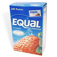 Equal Artificial Sweetener Packets - 200 Packets
