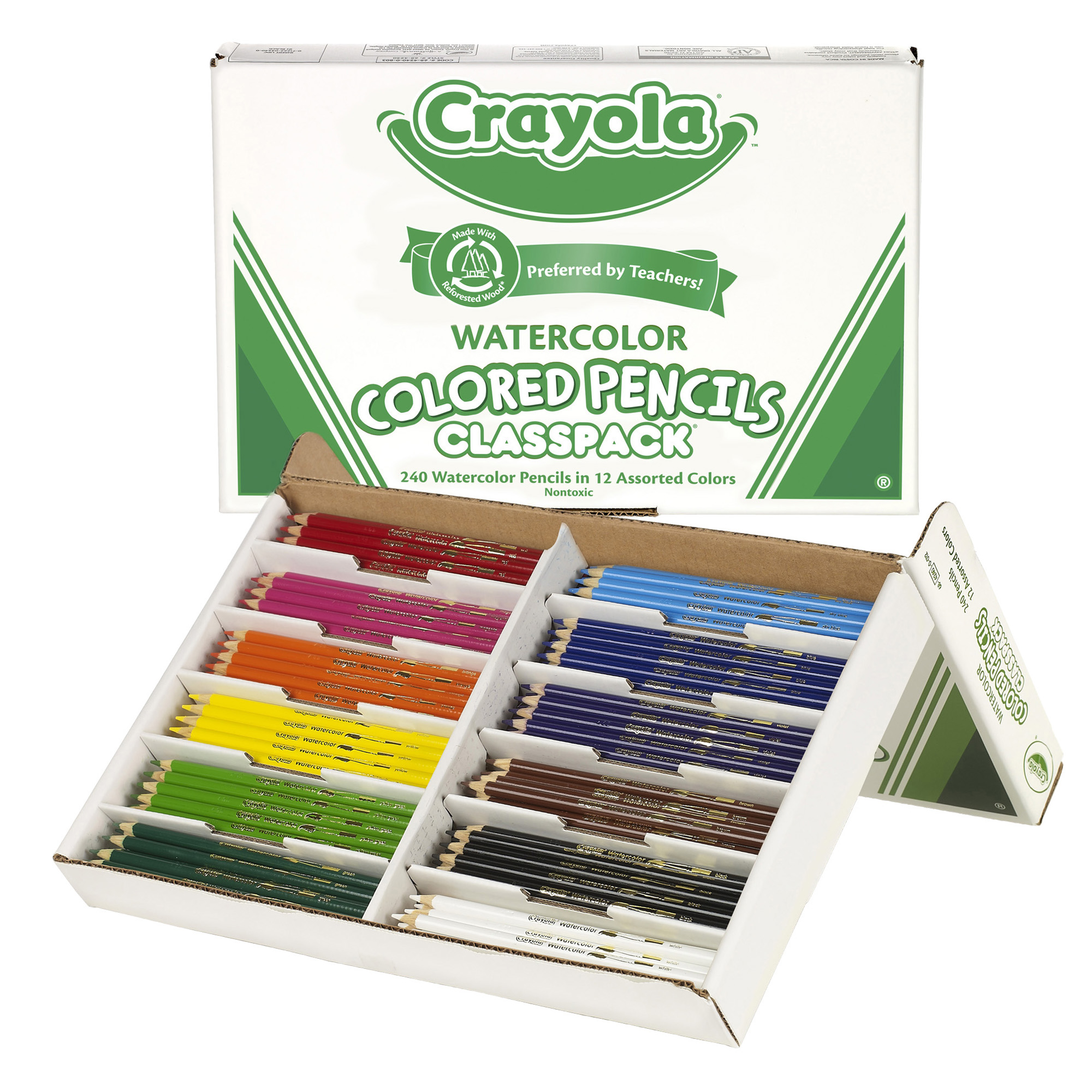 Crayola® Watercolor Colored Pencil Classpack, 12 Colors, 240 Count