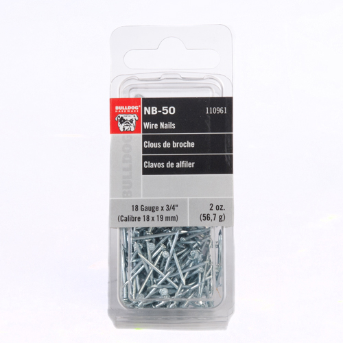 Bulldog Hardware 18-gauge x 3/4 in. Wire Nails (2 oz.-pack)
