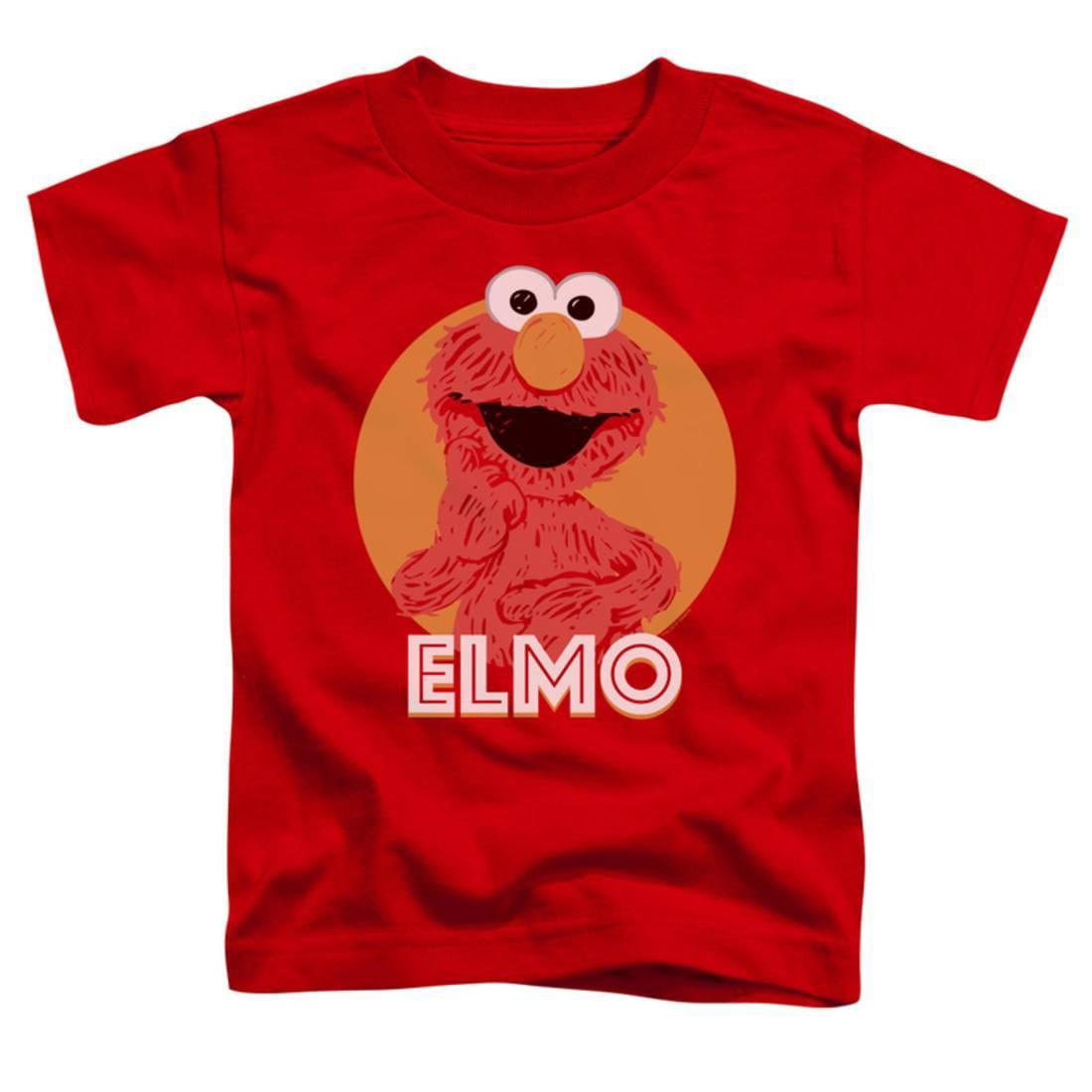 Toddler: Sesame Street- Smiley Elmo Apparel Baby T-Shirt - Red