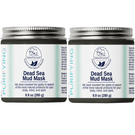 Natural Elephant Dead Sea Mud Mask 20oz (Pack of 2 9.9oz Jars)