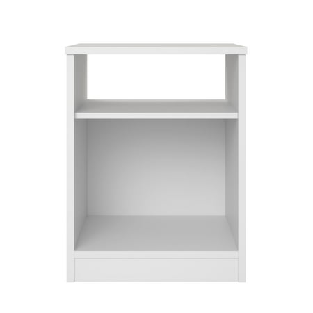 Mainstays Classic Open Shelf Nightstand, White