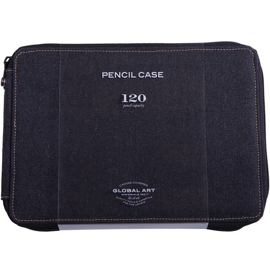 Canvas Pencil Case, Holds 120, Black