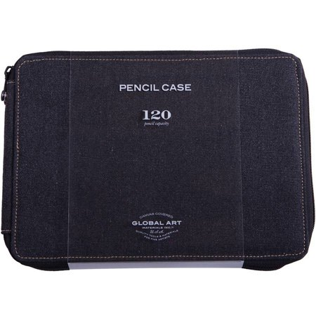 Material Box - Global Art Materials Canvas Pencil Case Black Capacity 120