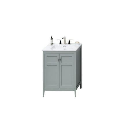Ronbow Briella 24 Inch Bathroom Vanity Set In Ocean Gray With