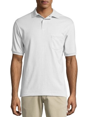 Hanes Men's Ecosmart Jersey Polo Shirt with Pocket