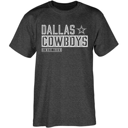 Dallas Cowboys Field General T-Shirt - Heathered Black (Dallas Cowboy Cheerleader Outfits)