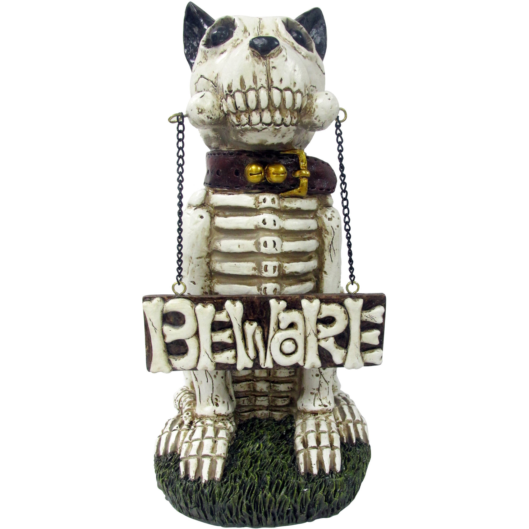 skeleton dog greeter beware halloween decoration walmartcom