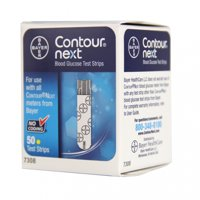 Bayer Contour NEXT Blood Glucose Test Strips, 50 Ct