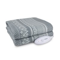 "Biddeford Blankets Comfort Knit Fleece Heated Electric Throw Blanket, 60"" x 50"""