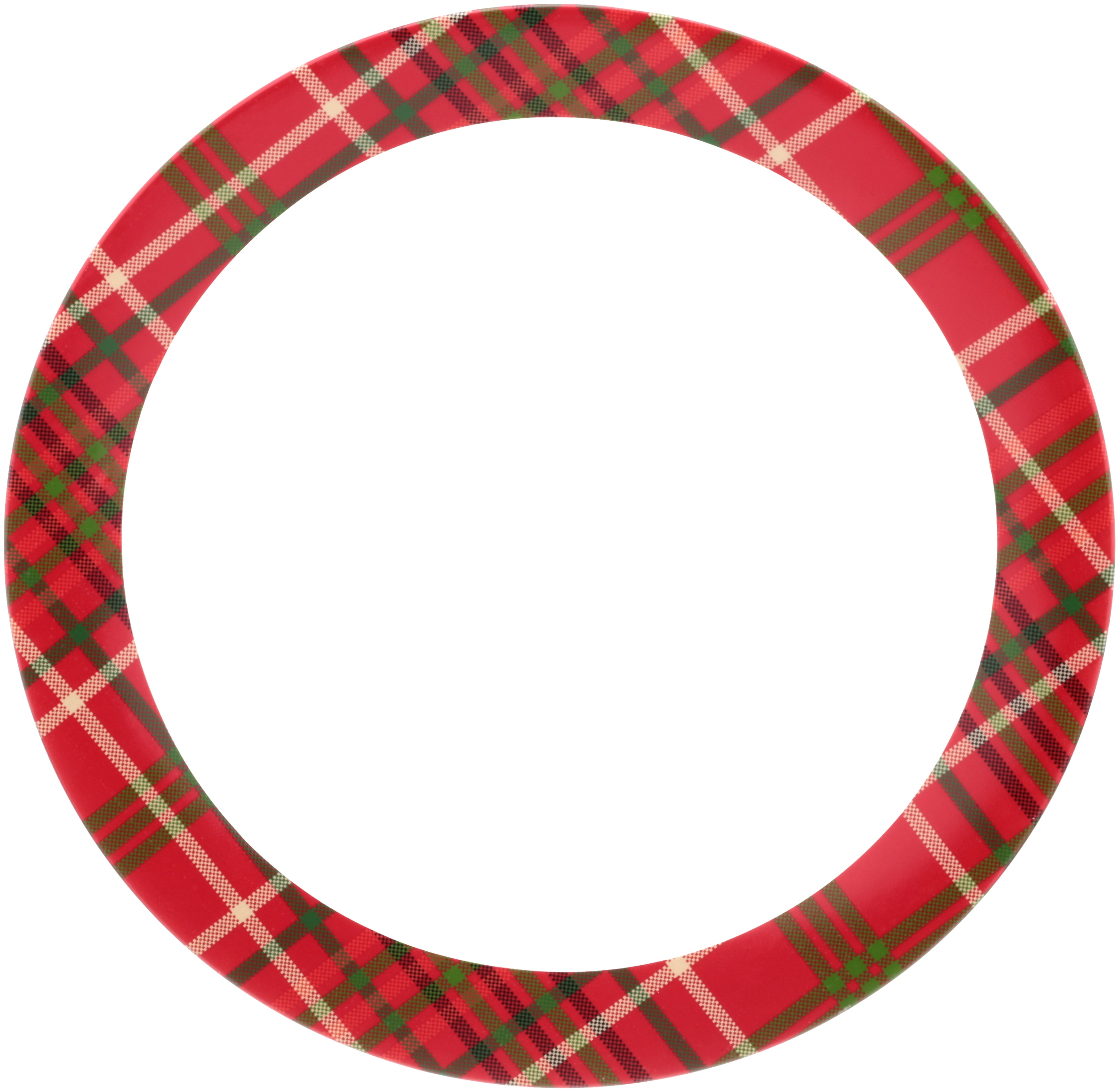 Mainstays™ Earthenware Plaid Dinner Plate, 4-Pieces