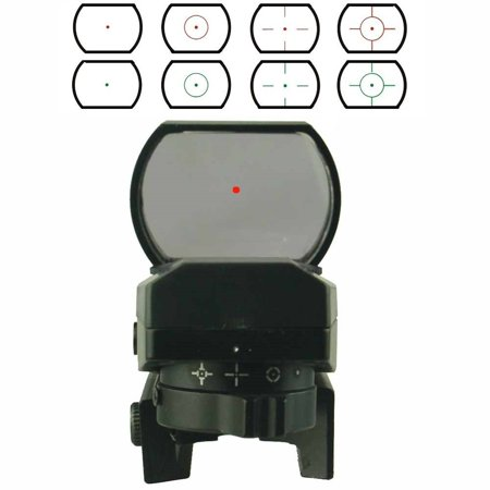 gero green & red dot  laser sight 22 mm rail mount base scope 4 reticles (Walther Ps 55 Red Reticle Point Sight)