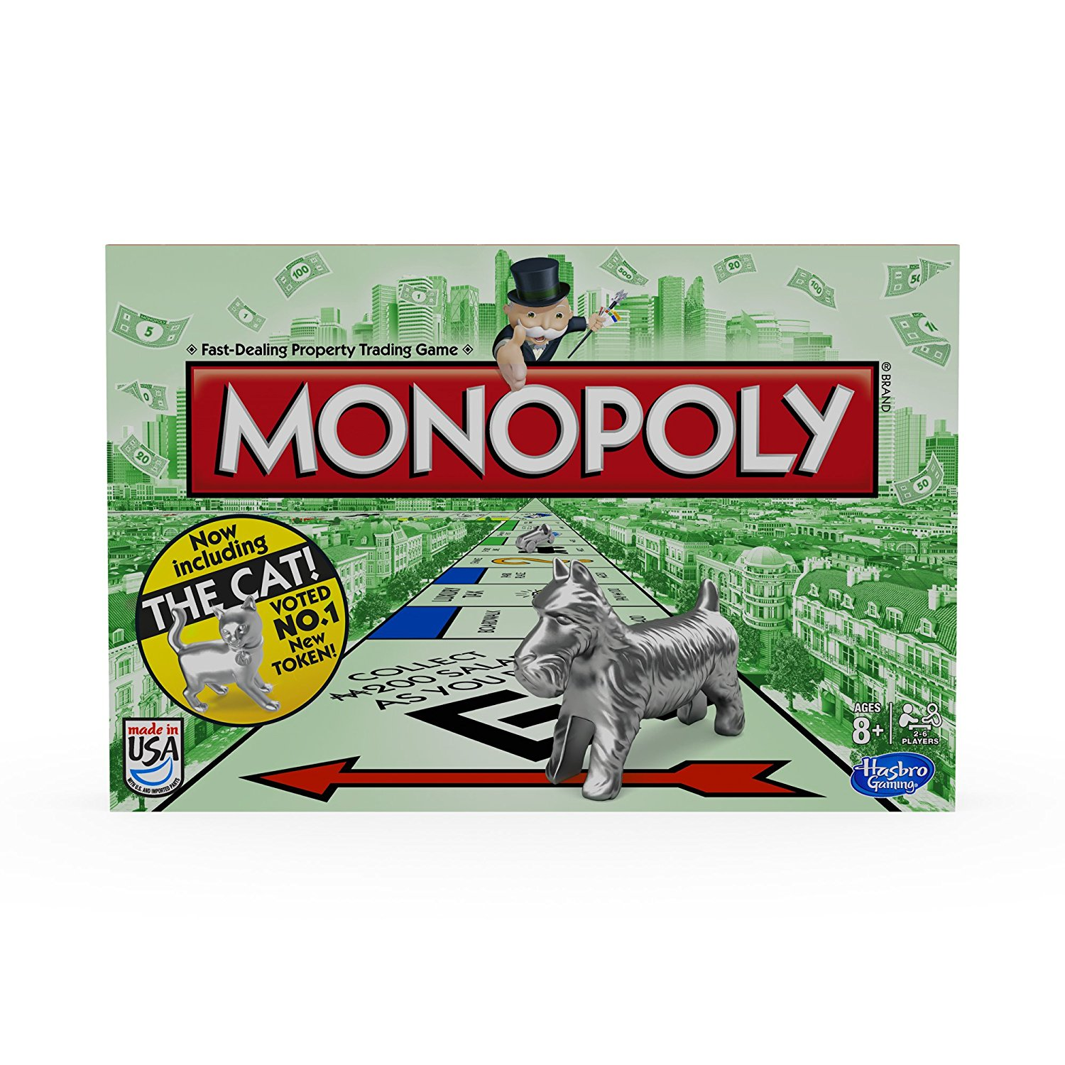 Monopoly Board GameCardboard, For 2 to 8 players By Hasbro by