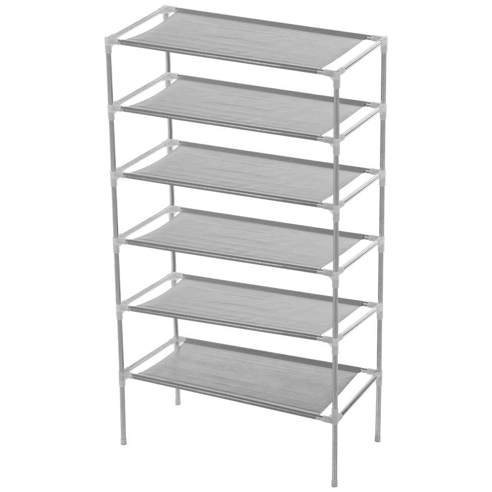 3/4/5/6 Tier Shoe Tower Rack Organizer Storage Cabinet Shelves Closet