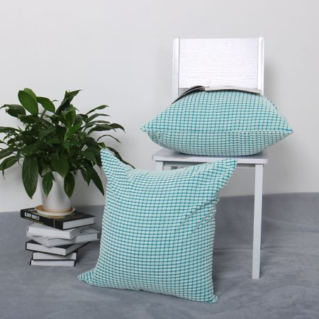 """Sofa Cushion Cover Striped Corduroy Throw Toss Pillow Case Shell 26"""" Cyan - image 4 of 7"""