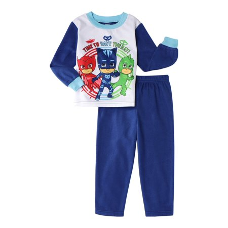 PJ Masks Infant/Toddler Boys' Flannel Pajamas, 2-Piece Set