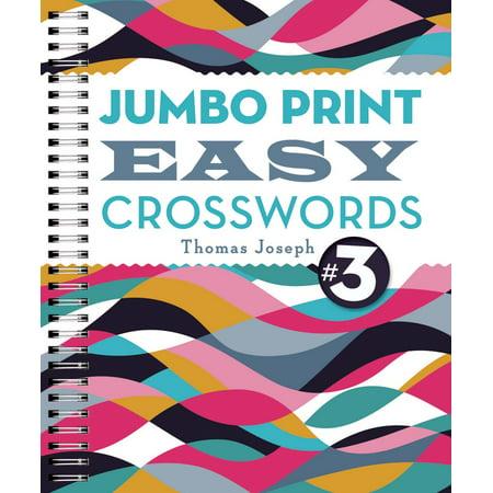 Jumbo Print Easy Crosswords  3