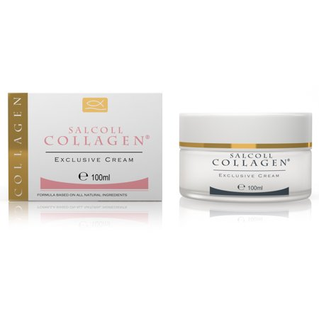 Restorative Creme - SALCOLL COLLAGEN Pure Collagen Cream - 100% Natural Anti-Aging Face Cream with Marine Collagen, Elastin & Essential Proteins - Anti-Wrinkle Cream to Repair, Restore, Rebuild & Rejuvenate Skin - 100 ml