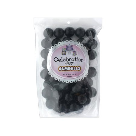 SweetWorks Gumballs 14oz Stand Up Bg Black - Black Gum Balls