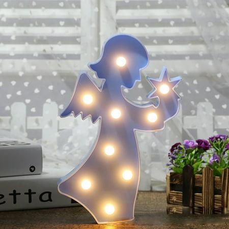 Cute LED Neon Lamp Living Room Bedroom Desktop Decorative Light Blue
