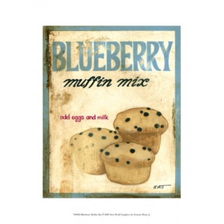 Blueberry Muffin Mix Poster Print by Norman Wyatt (10 x 13)