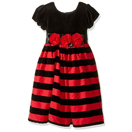 Little GIrl Black Red Special Occasion Dress Christmas Holiday Special Occasion 4T