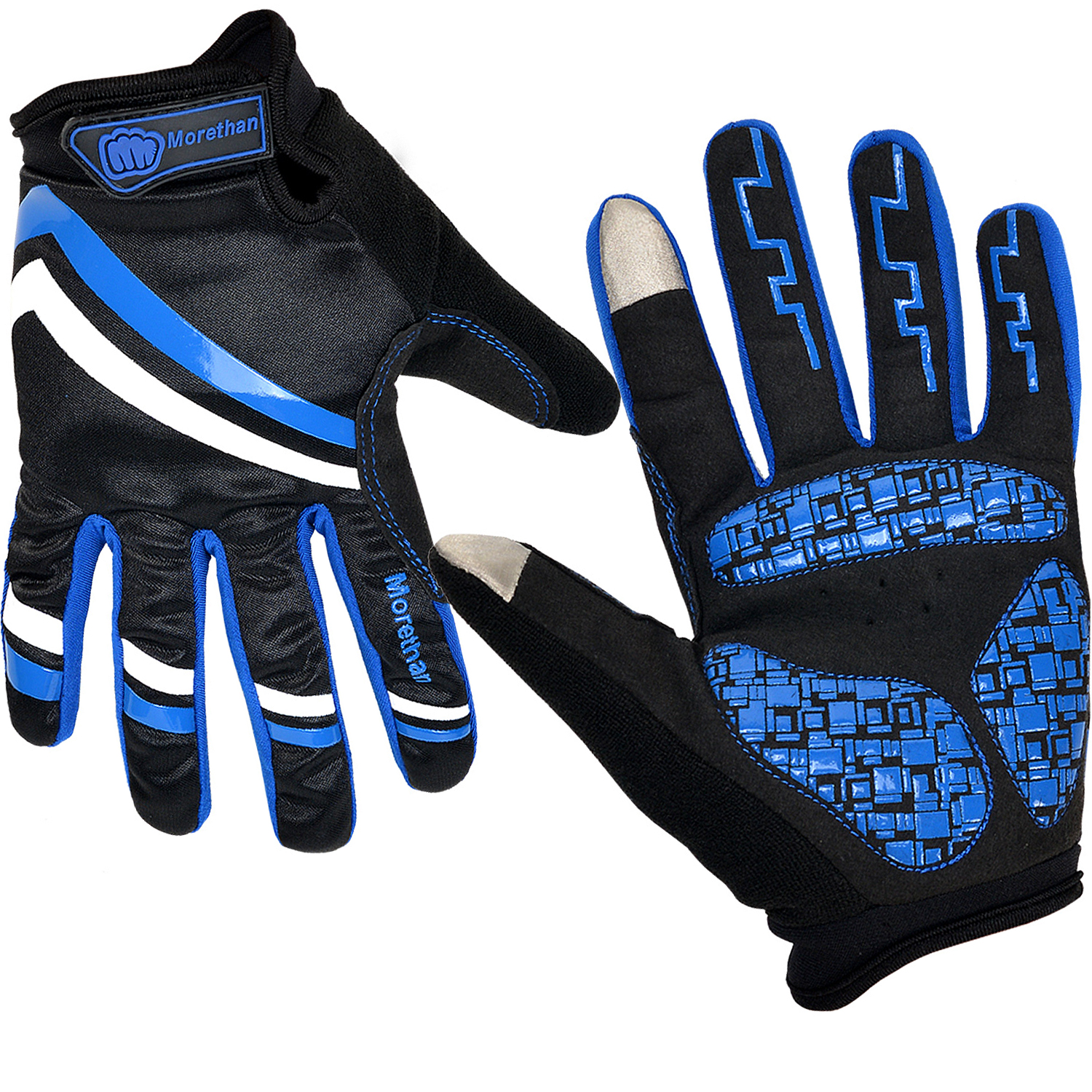 Cycling Gloves Touch-Screen Bike Bicycle Motor Sports Full Finger Windproof Design L XL by