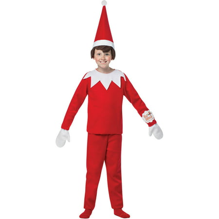 Elf On The Shelf Child Halloween Costume - Elf Dressing Up Costume