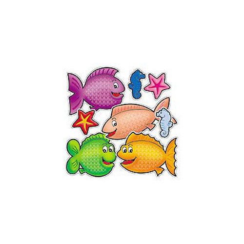 Teachers Friend 72 Piece Punch-outs Fishy Fun Bulletin Board Cut Out (Set of 2)