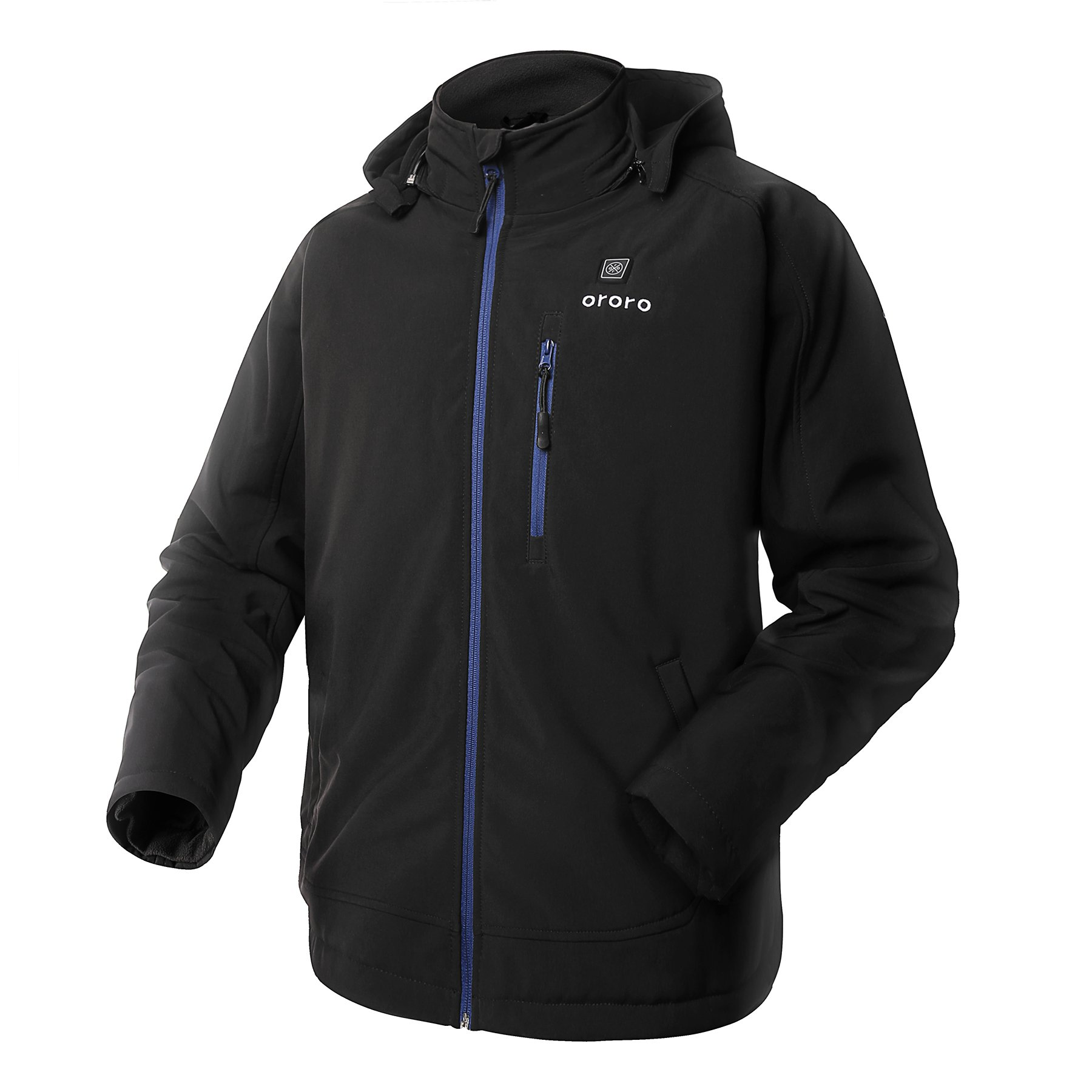 ororo Men's Soft Shell Heated Jacket Kit With Detachable Hood and Battery Pack