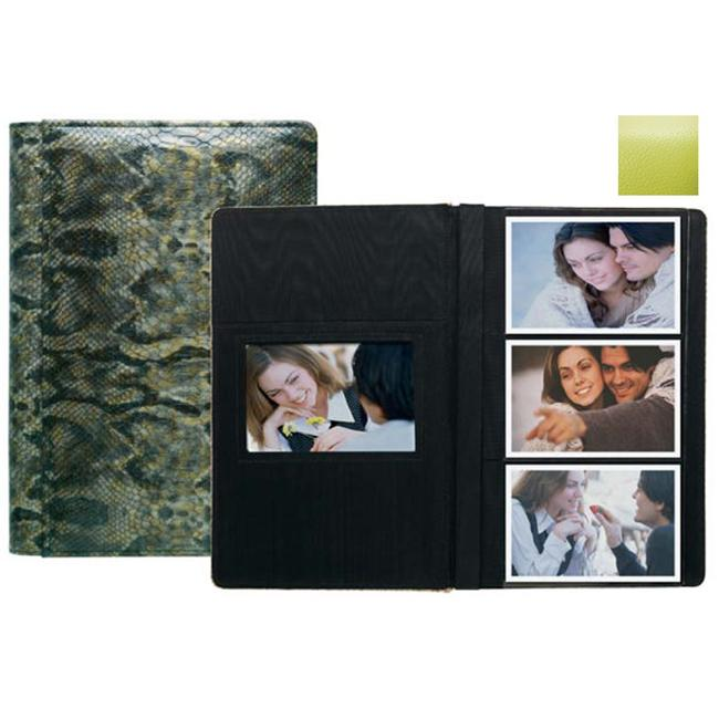 Raika RO 127 LIME 4inch x 6inch Three High Photo Album - Lime
