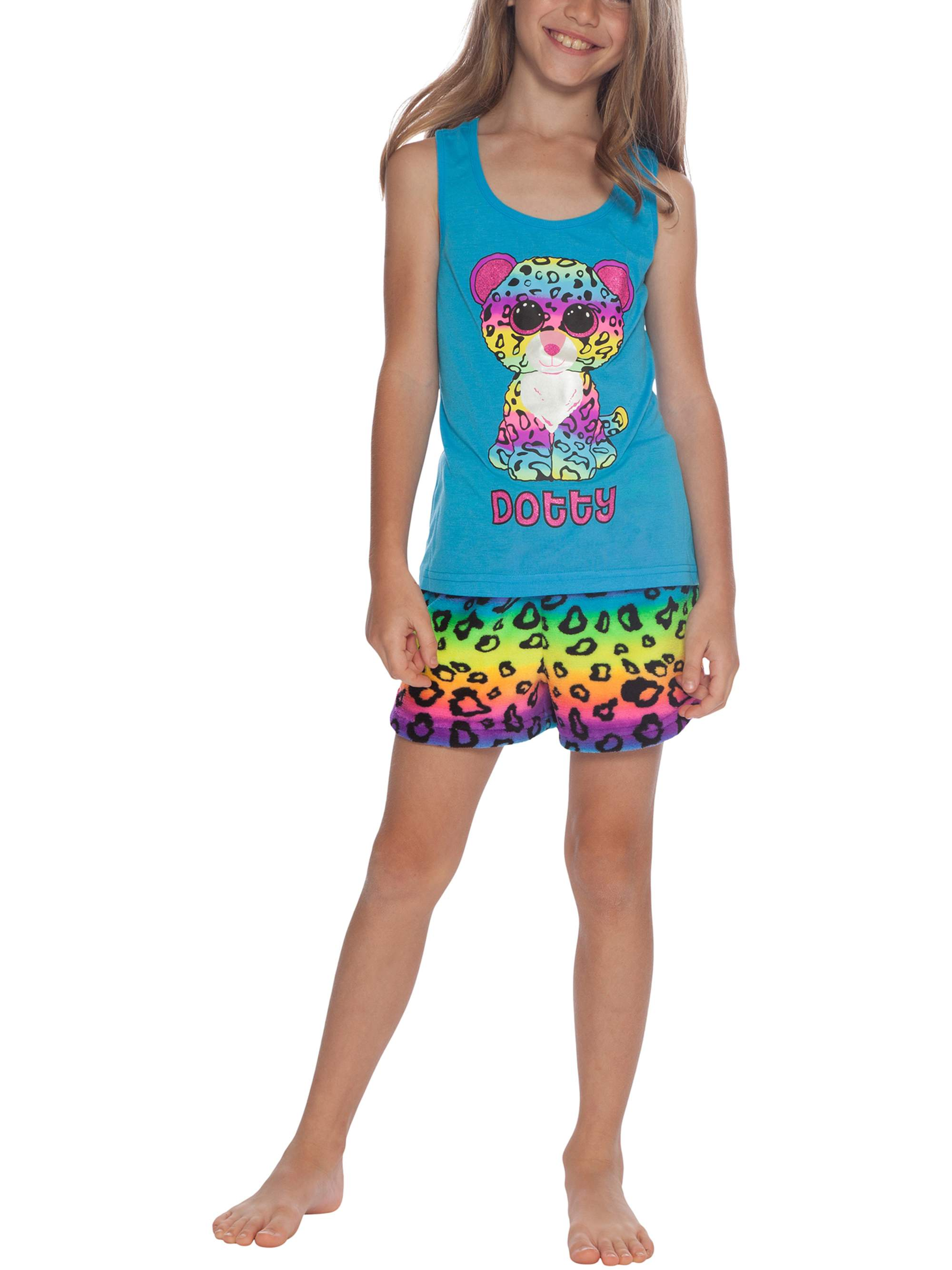 Girls' TY Beanie Boo Dotty 2 Piece Pajama Sleep Set (Little Girl & Big Girl)