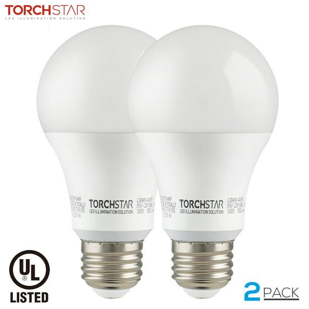Torchstar 2 Pack Ul Listed A19 Led Light Bulbs For Living Room Kitchen Garage Door Opener Led Bulb 3000k Warm White E26 Medium Base Walmart Com Walmart Com