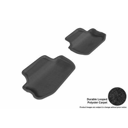 3D MAXpider 2010-2015 Chevrolet Camaro Second Row All Weather Floor Liners in Black