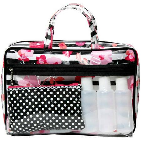 Pc Striped Travel Bag Set