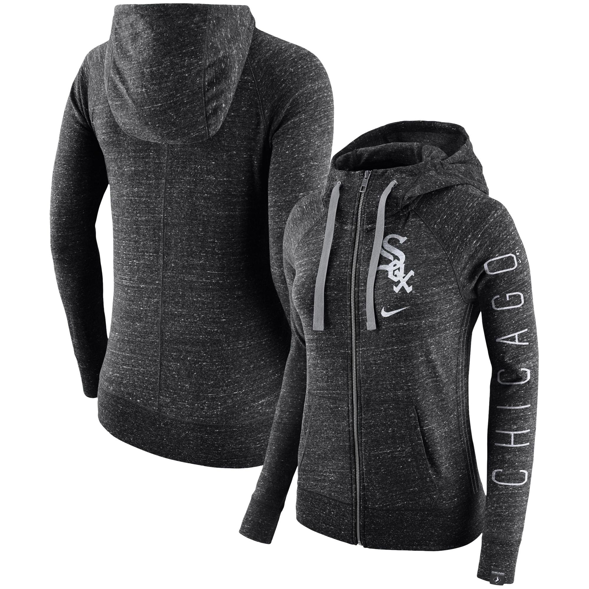 Chicago White Sox Nike Women's Vintage Full-Zip Hoodie - Black