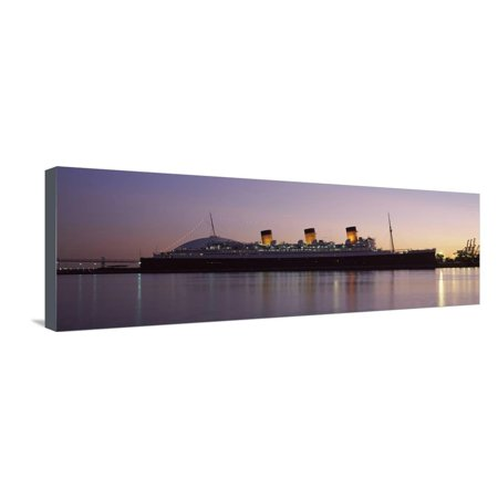Rms Queen Mary in an Ocean, Long Beach, Los Angeles County, California, USA Stretched Canvas Print Wall - Queen Mary Los Angeles Halloween