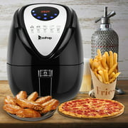 Air Deep Fryer, 3.7QT 1500W Electric Air Fryer Oven Oilless Cooker with 7 Cooking Presets, Digital Air Fryer and Convection Oven, Air Fryers for Kitchen, Kitchen Appliance, Black, W135
