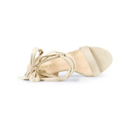de5e4592d6d Women's Double Ankle Strap Lace Up Stiletto Heel Sandals Black US 10/UK  8/EU 41