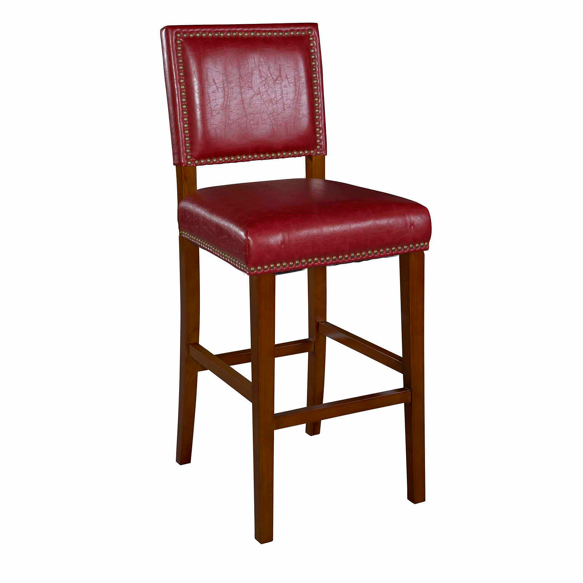 Linon Brook Bar Stool, 30 inch Seat Height, Multiple Colors