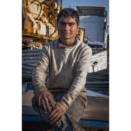 Canvas Print Man Romany Portrait Adolescent Junk Dealer Metals Stretched Canvas 10 x - Portrait Metal